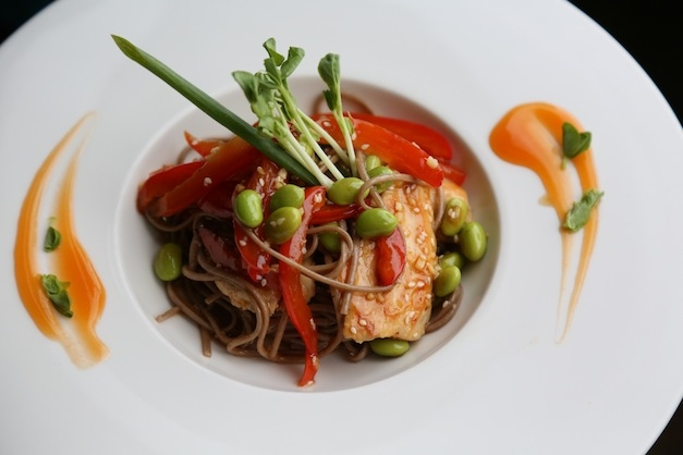 THAI STYLE SOBA NOODLE SALAD WITH EDAMAME AND VEGETABLES