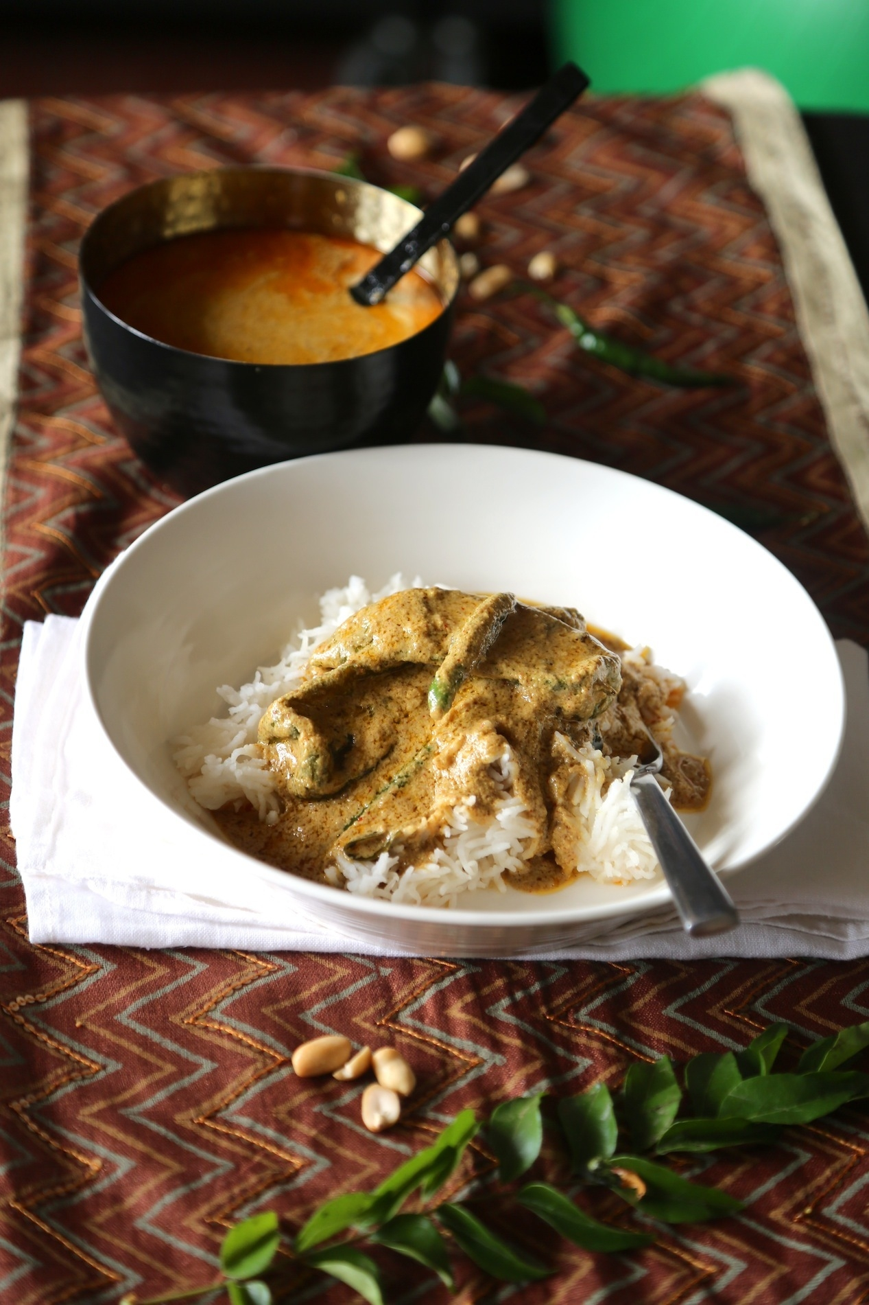 MIRCH KA SALAN- GREEN CHILLIES IN A MIXED NUT AND SEED GRAVY