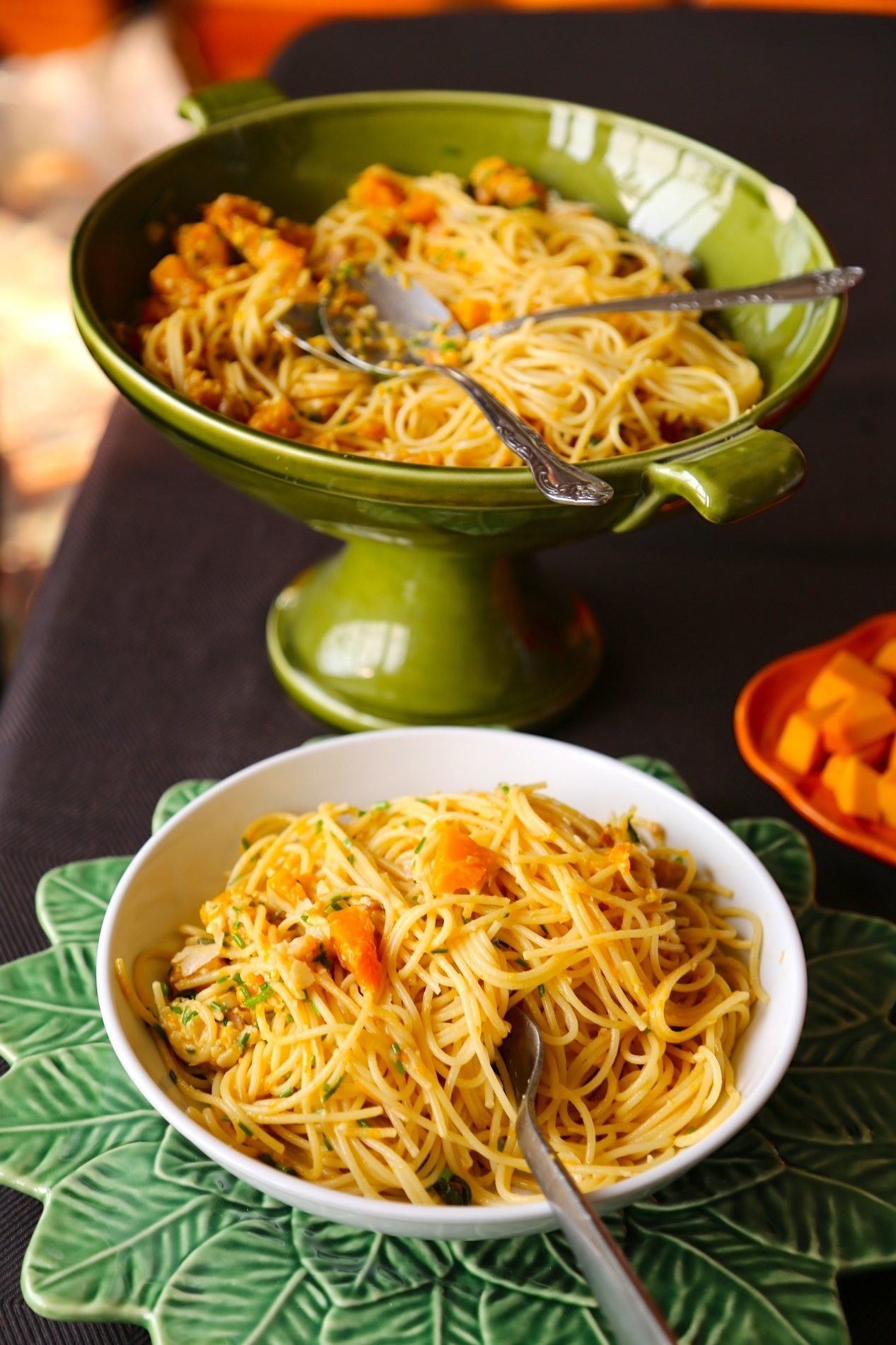 PASTA WITH PUMPKIN AND CHIVES