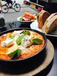 SHAKSHOUKA-EGGS IN A TANGY TOMATO SAUCE