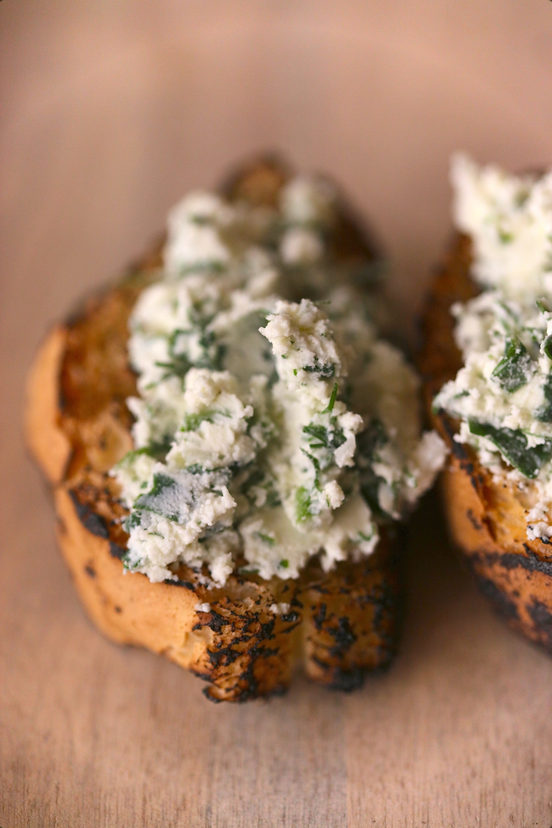 Home-made Ricotta with fresh herbs