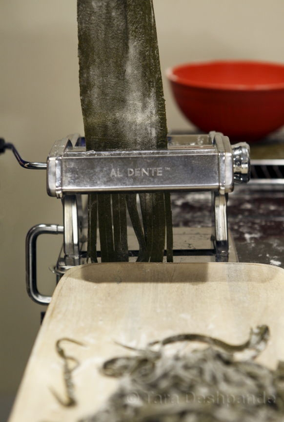 The pasta cutting machine | Photo by Binaifer Barucha