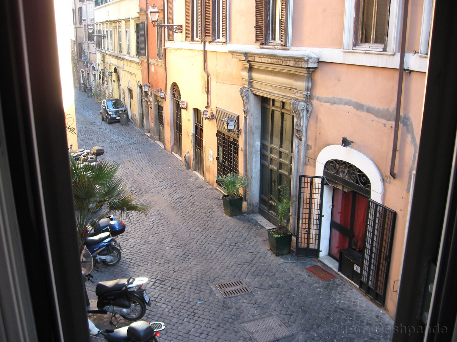 The street outside our apartment in Trastevere, Rome | @Tara_Deshpande