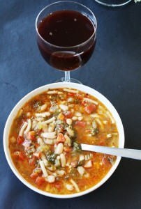 TUSCAN-STYLE VEGETABLE SOUP WITH LEFTOVERS