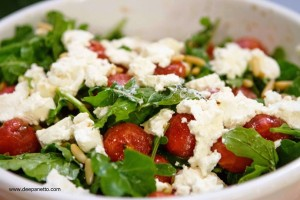 Watermelon and Home-made Cottage Cheese salad