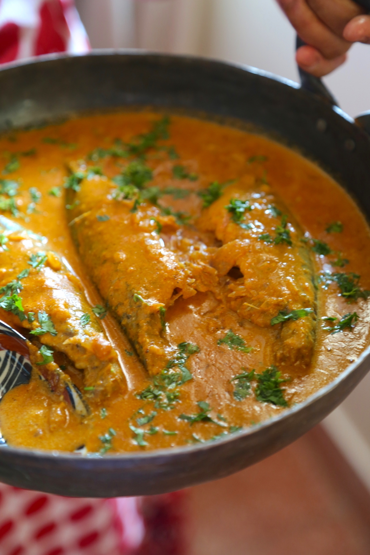 BANGDA UDID METHI-INDIAN MACKEREL CURRY WITH FENUGREEK, BLACK GRAM