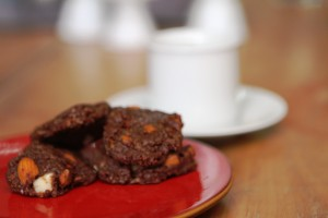 Miracle Chocolate Almond Oat cookies