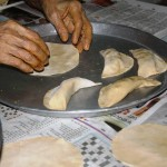 making karanjias with Nani
