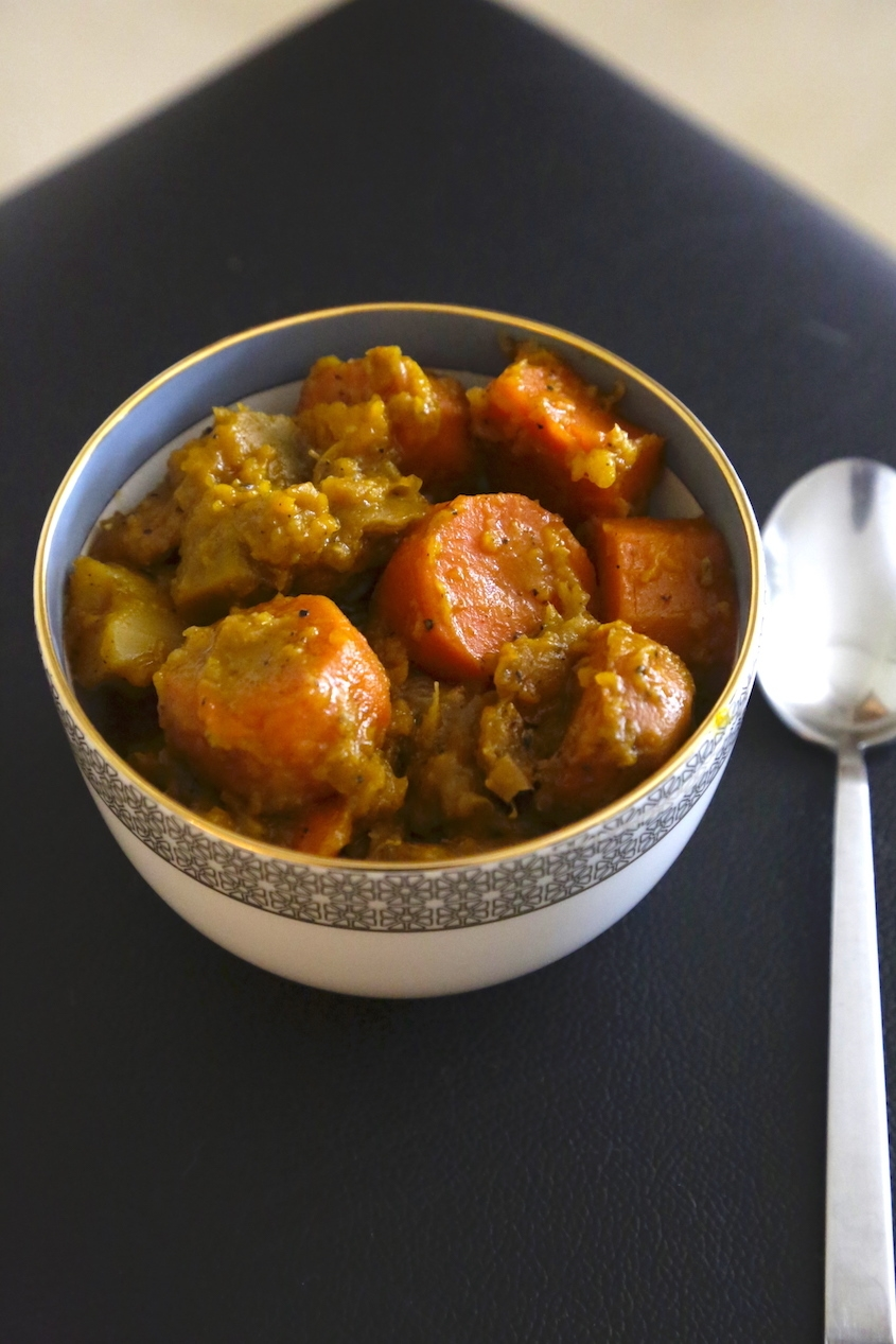 Sweet and Spicy Cochin Jewish style Tsimmes Vegetable Stew